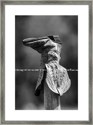 Boot Post Framed Print