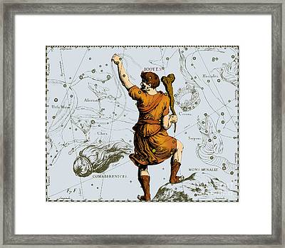 Bootes Constellation, 1687 Framed Print by Science Source