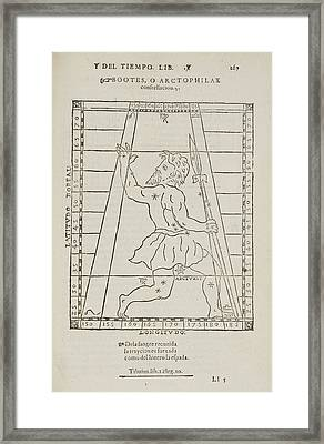 Bootes Star Constellation Framed Print by British Library