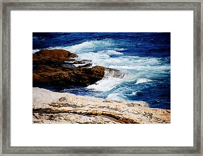 Boothbay Harbor Maine Framed Print by Jacqueline M Lewis