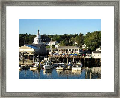 Boothbay Lobster Wharf Maine Framed Print