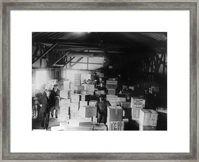 Bootleg Liquor, 1920s Framed Print