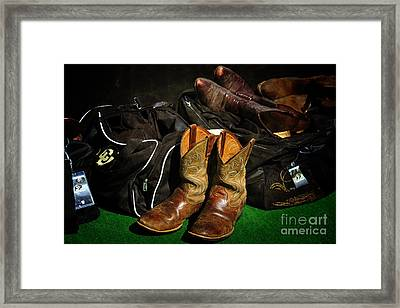 Boots And Bags Framed Print by Bob Hislop