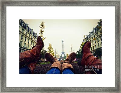 Boots In Paris Framed Print