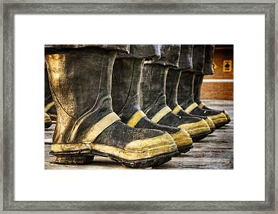 Boots On The Ground Framed Print by Joan Carroll
