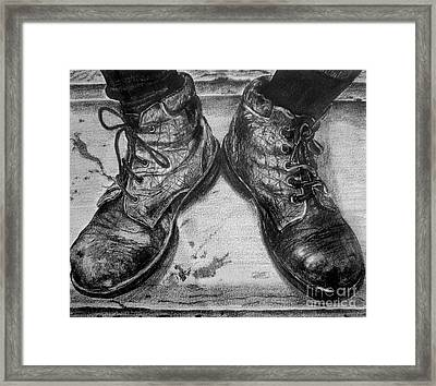 Boots Framed Print