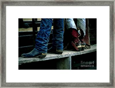 Boots Tell The Story Framed Print by Bob Christopher