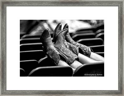 Boots Up - Bw Framed Print