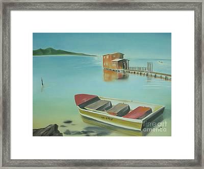 Boqueron Beach Framed Print by Angela Melendez