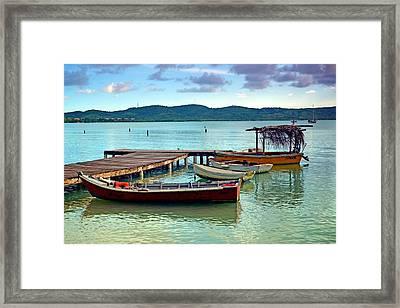 Framed Print featuring the photograph Boqueron Pier by Ricardo J Ruiz de Porras