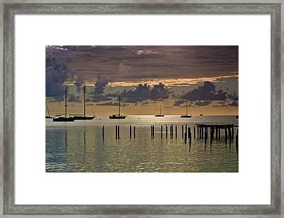 Framed Print featuring the photograph Boqueron Sunset by Ricardo J Ruiz de Porras