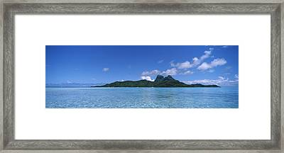 Bora Bora From Motu Iti, Society Framed Print by Panoramic Images