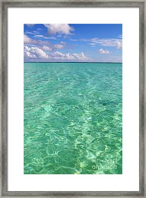 Bora Bora Green Water II Framed Print
