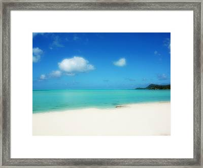 Bora Shades Of Blue And White Framed Print