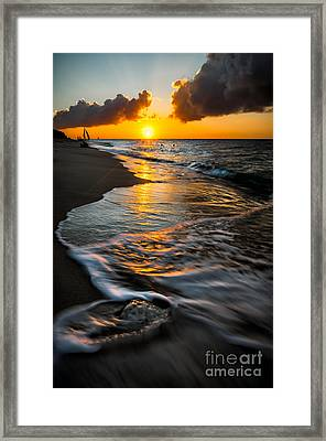 Boracay Sunset Framed Print by Adrian Evans
