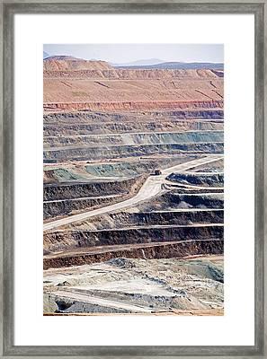 Borax Mine Framed Print
