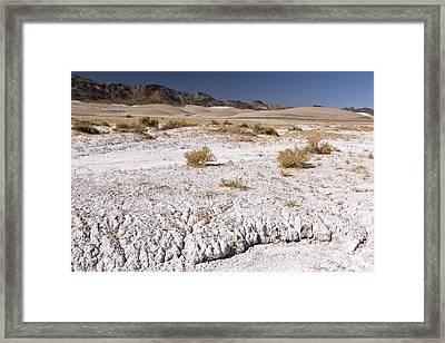 Borax-rich Soil, Mojave Desert, Usa Framed Print by Science Photo Library