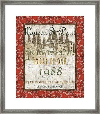 Bordeaux Rouge 1 Framed Print