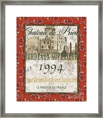 Bordeaux Rouge 2 Framed Print by Debbie DeWitt