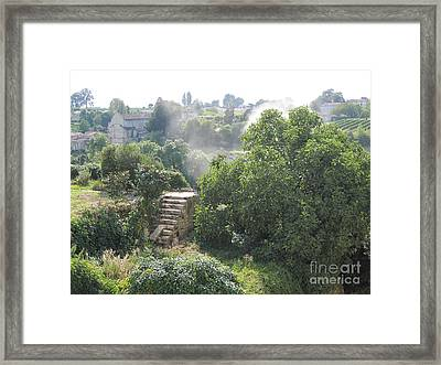 Framed Print featuring the photograph Bordeaux Village Cloud Of Smoke  by HEVi FineArt