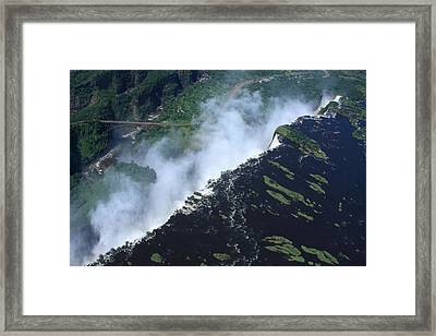 Border Crossing At The Falls Framed Print by Aidan Moran