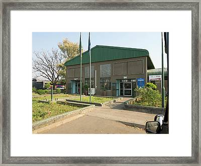 Border Crossing Building In Zambia Framed Print by Panoramic Images