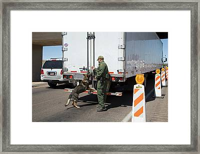 Border Patrol Checkpoint Framed Print by Jim West