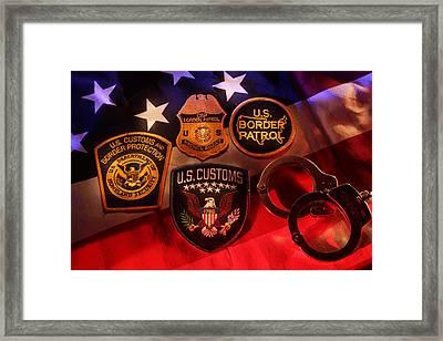Border Security Framed Print by Daniel Alcocer