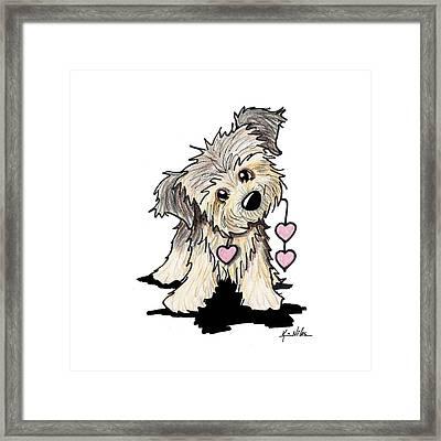 Border Terrier Heart Strings Framed Print by Kim Niles