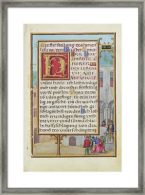 Border With Micaiah Foretelling The Death Of King Ahab Framed Print by Litz Collection