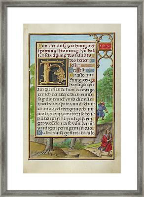 Border With Shimei Throwing Stones At David Simon Bening Framed Print