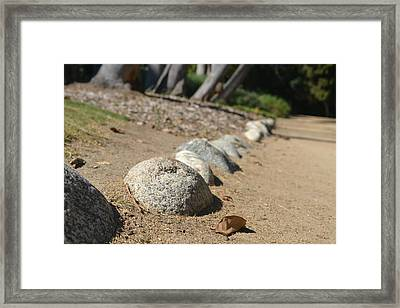 Bordered Pathway Framed Print by Kiros Berhane