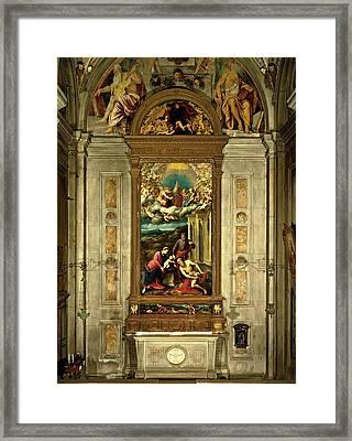 Bordon Paris, Carlo Da Rho Chapel Framed Print