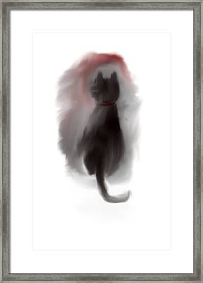 Framed Print featuring the painting Bored Kitty Cat by Jessica Wright