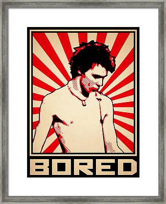 Bored Framed Print by Lance Vaughn