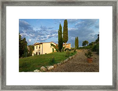 Framed Print featuring the photograph Borgo Bottaia by Francesco Emanuele Carucci