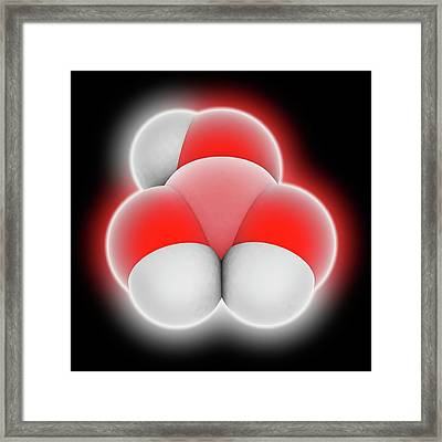 Boric Acid Molecule Framed Print by Laguna Design