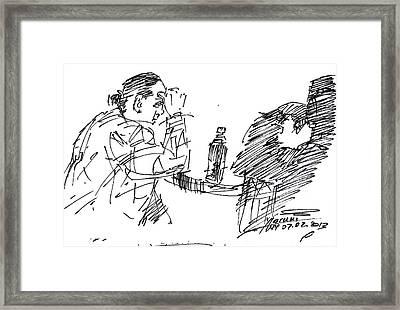 Boring Company Framed Print