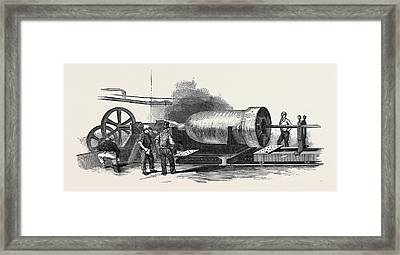 Boring The Cylinder Of The Britannia Press Framed Print by English School