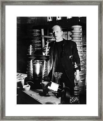 Boris Karloff In Frankenstein  Framed Print by Silver Screen