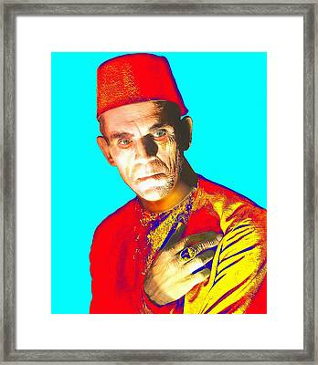 Boris Karloff In The Mummy Framed Print by Art Cinema Gallery