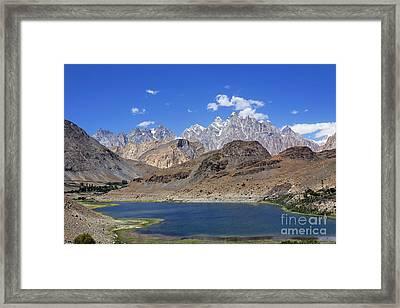 Borith Lake And Mountains Framed Print by Robert Preston