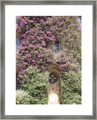 Bormes Door Framed Print