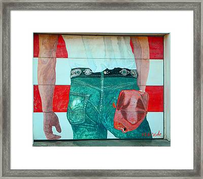 Born In The Usa Urban Garage Door Mural Framed Print by Chris Berry