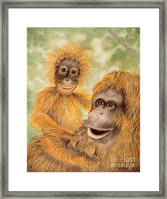 Born Mischievous Framed Print by Kathleen Keller