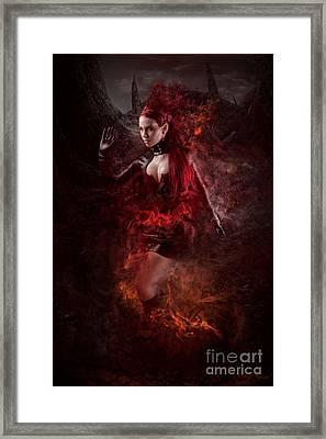 Born Of Fire Framed Print by Robert Palmer
