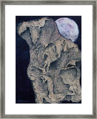Framed Print featuring the mixed media Born Of The Moon by Carla Woody
