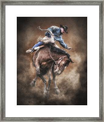 Born To Buck Live To Ride Framed Print by Ron  McGinnis