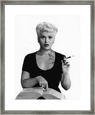 Born Yesterday, Judy Holliday, Portrait Framed Print by Everett