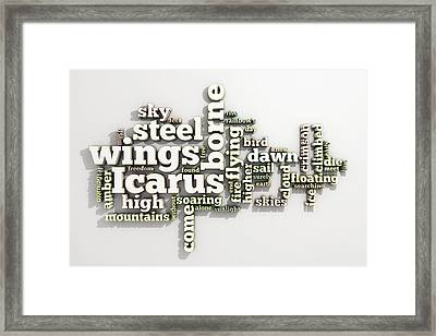 Borne On Wings Of Steel Framed Print